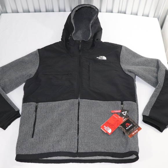 77bae99079c0 Large Gray Men s Denali 2 Hoodie by The North Face